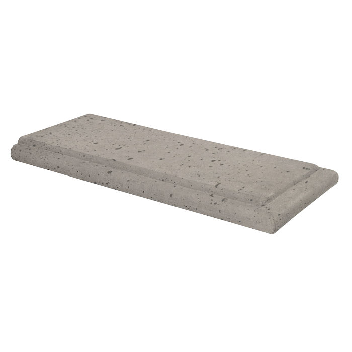 18x24 Roman Wall Cap Terminal Natural Gray Travertine