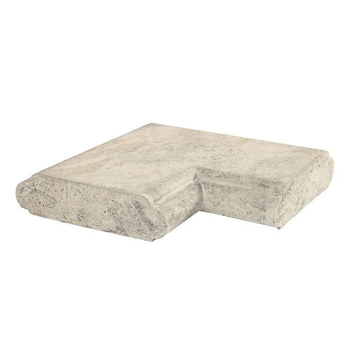 20x24 Roman Wall Cap Corner Rice Limestone