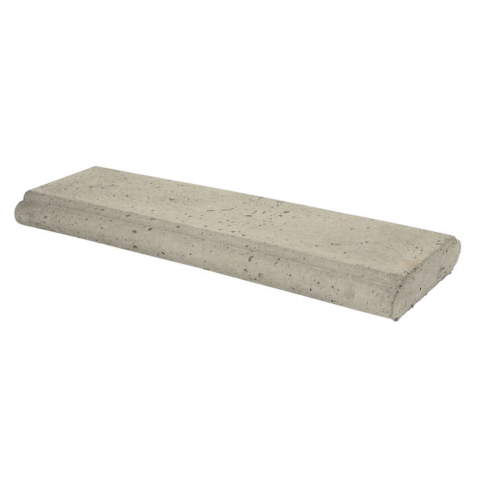 8x24 Roman Wall Cap Early Gray Travertine