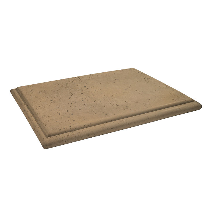 Roman Flat Pier Cap 15x20 Caqui Travertine