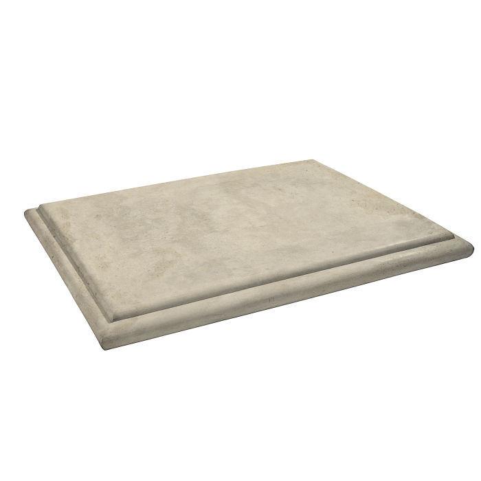 Roman Flat Pier Cap 15x20 Early Gray Limestone
