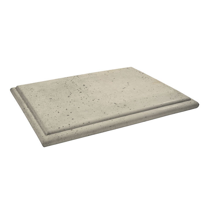 Roman Flat Pier Cap 15x20 Early Gray Travertine