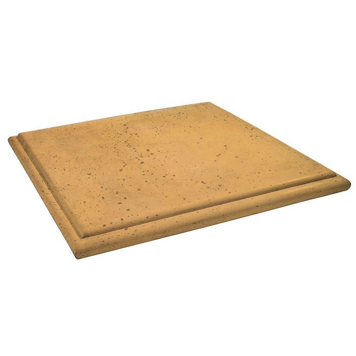 Roman Flat Pier Cap 26x26 Buff Travertine