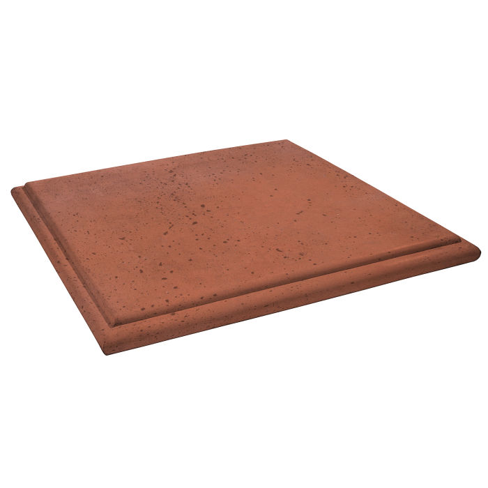 Roman Flat Pier Cap 26x26 Mission Red Travertine