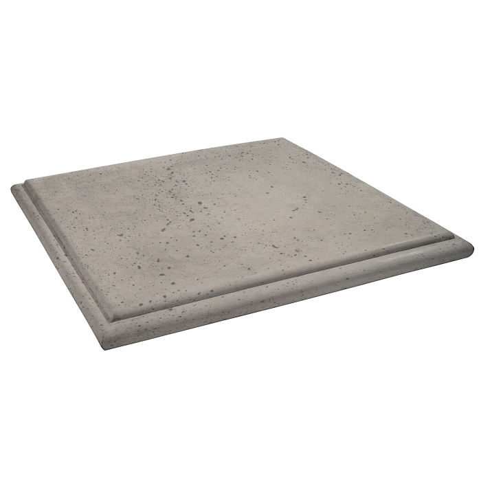 Roman Flat Pier Cap 26x26 Natural Gray Travertine