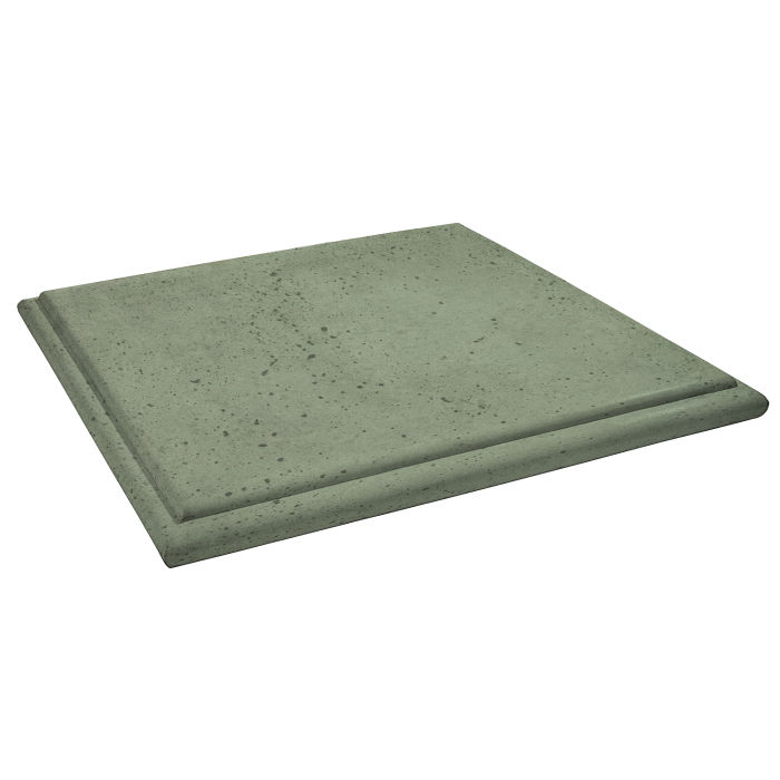 Roman Flat Pier Cap 26x26 Ocean Green Light Travertine
