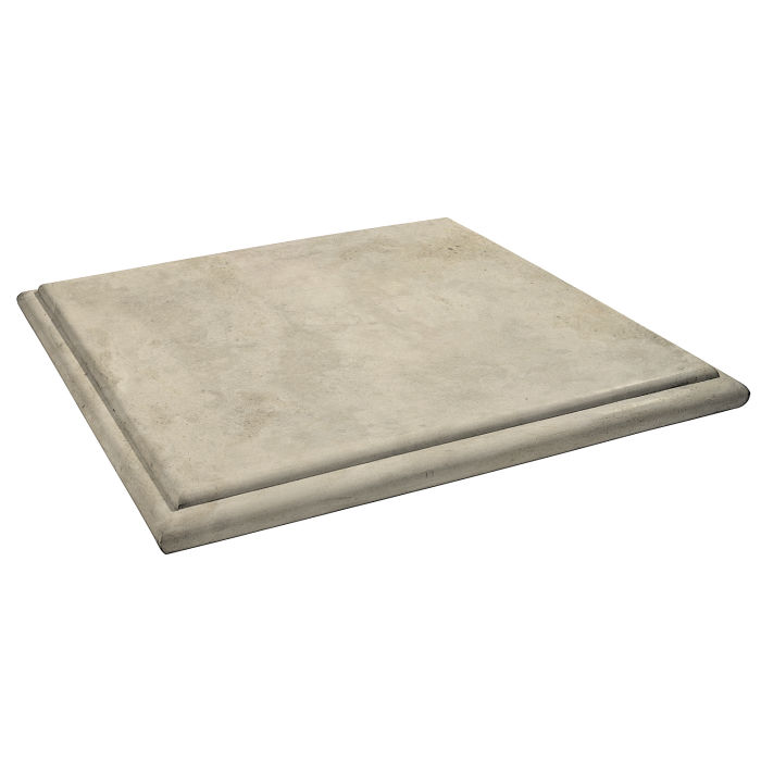 Roman Flat Pier Cap 48x48 Early Gray Limestone