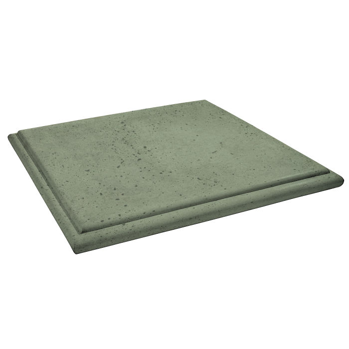 Roman Flat Pier Cap 48x48 Ocean Green Light Travertine