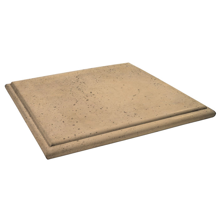 Roman Flat Pier Cap 48x48 Old California Travertine