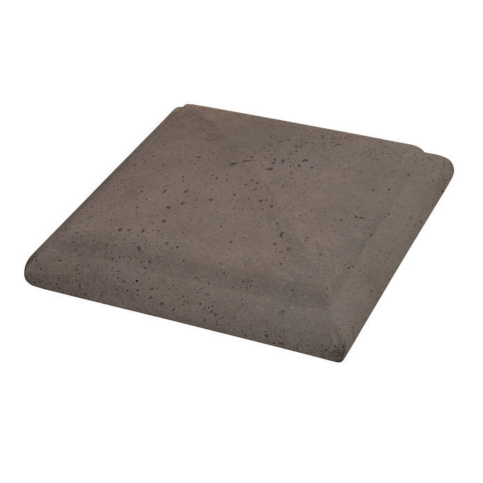 Roman Peaked Pier Cap 10x10 Charley Brown Travertine
