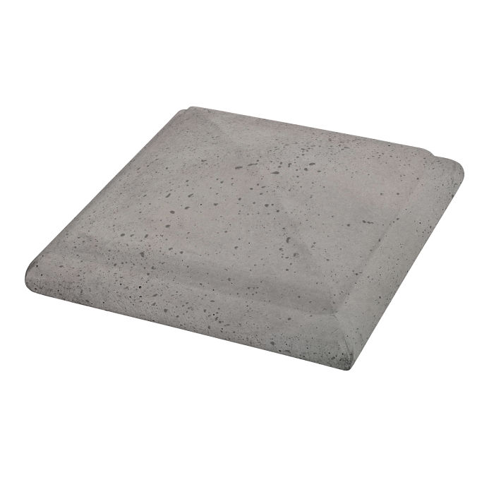 Roman Peaked Pier Cap 10x10 Sidewalk Gray Travertine