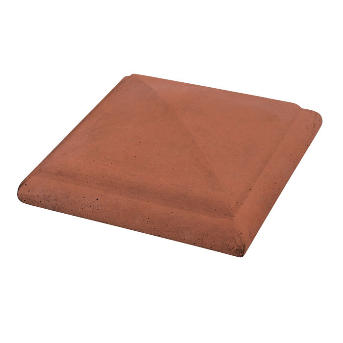 Roman Peaked Pier Cap 14x14 Mission Red