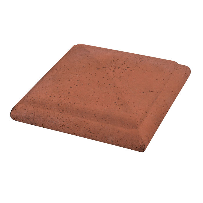 Roman Peaked Pier Cap 14x14 Mission Red Travertine