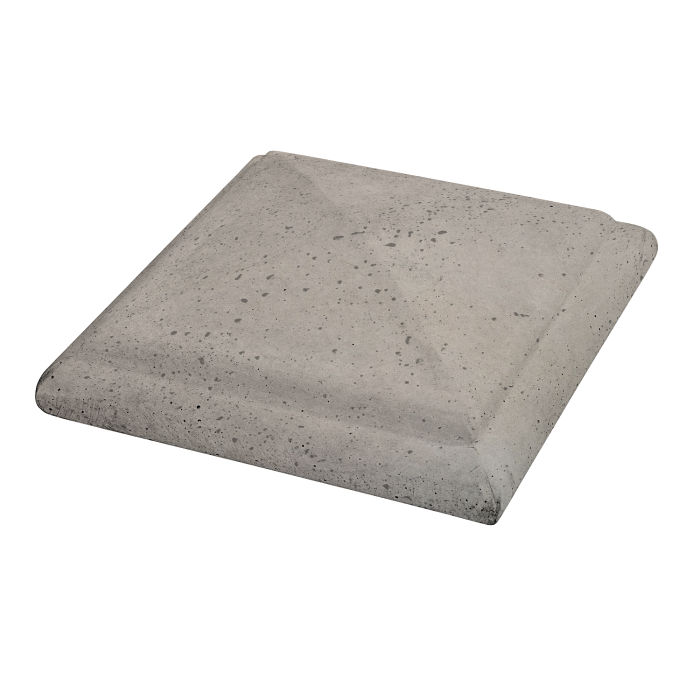 Roman Peaked Pier Cap 14x14 Natural Gray Travertine