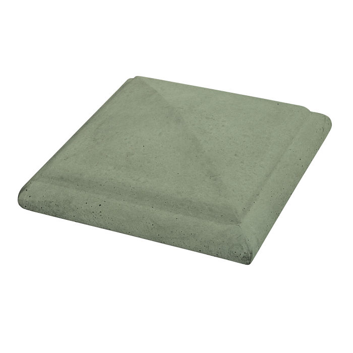 Roman Peaked Pier Cap 16x16 Ocean Green Light
