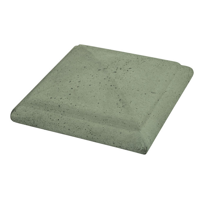 Roman Peaked Pier Cap 16x16 Ocean Green Light Travertine