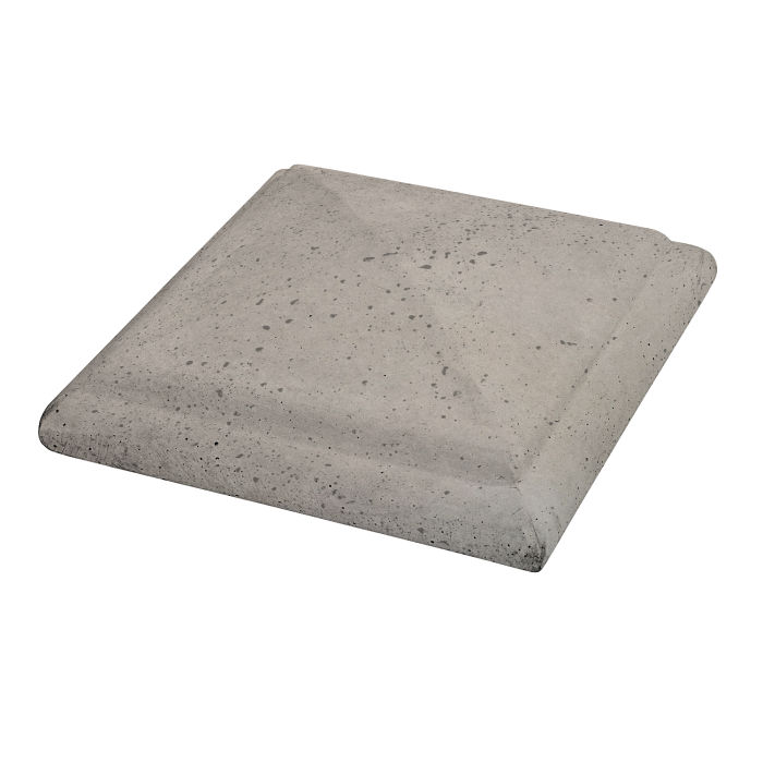 Roman Peaked Pier Cap 19x19 Natural Gray Travertine