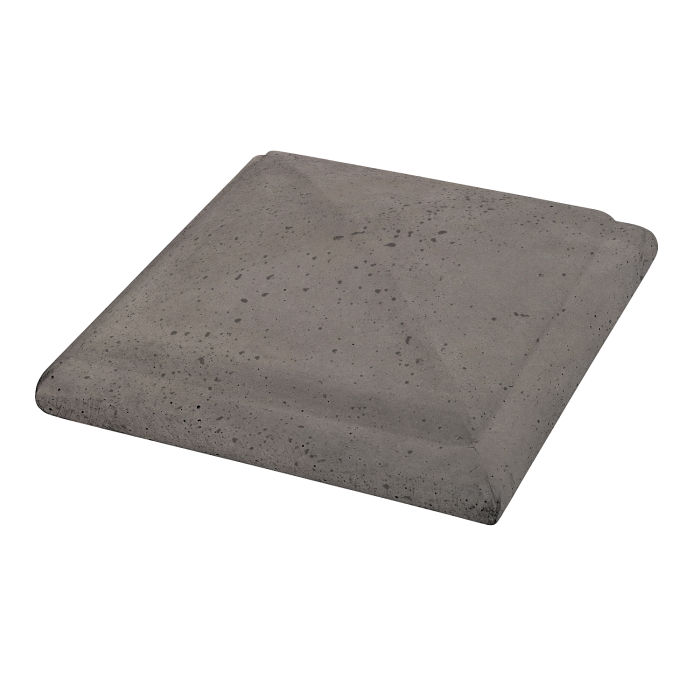 Roman Peaked Pier Cap 19x19 Smoke Travertine