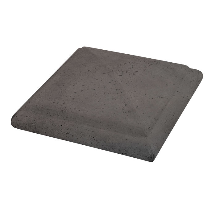 Roman Peaked Pier Cap 22x22 Charcoal Travertine