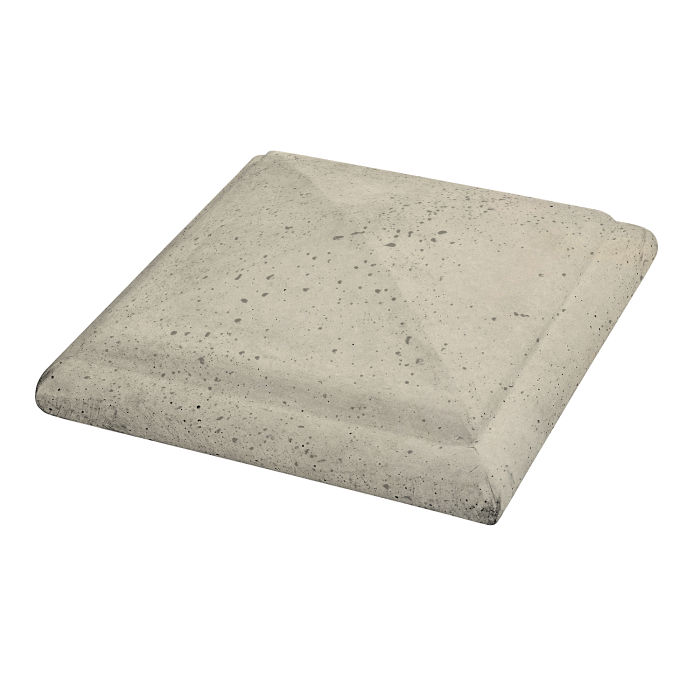 Roman Peaked Pier Cap 22x22 Early Gray Travertine