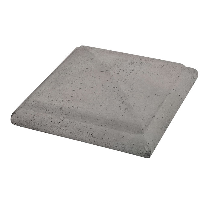 Roman Peaked Pier Cap 22x22 Sidewalk Gray Travertine