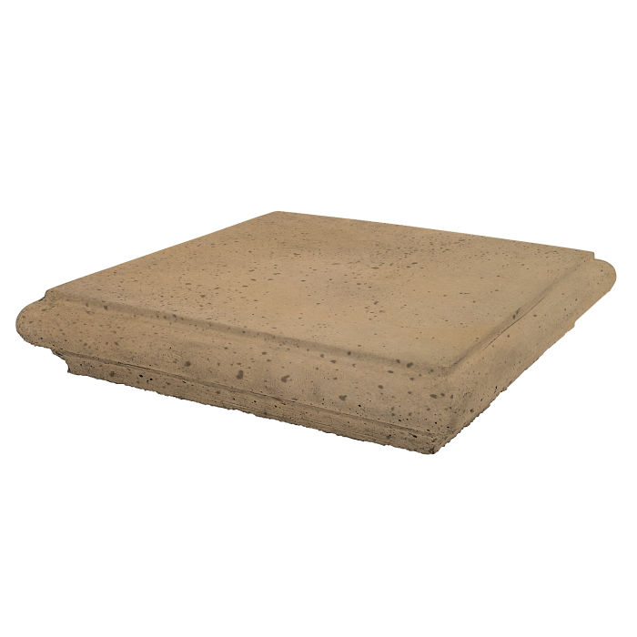 Roman Pier Cap 1 28x28 Caqui Travertine
