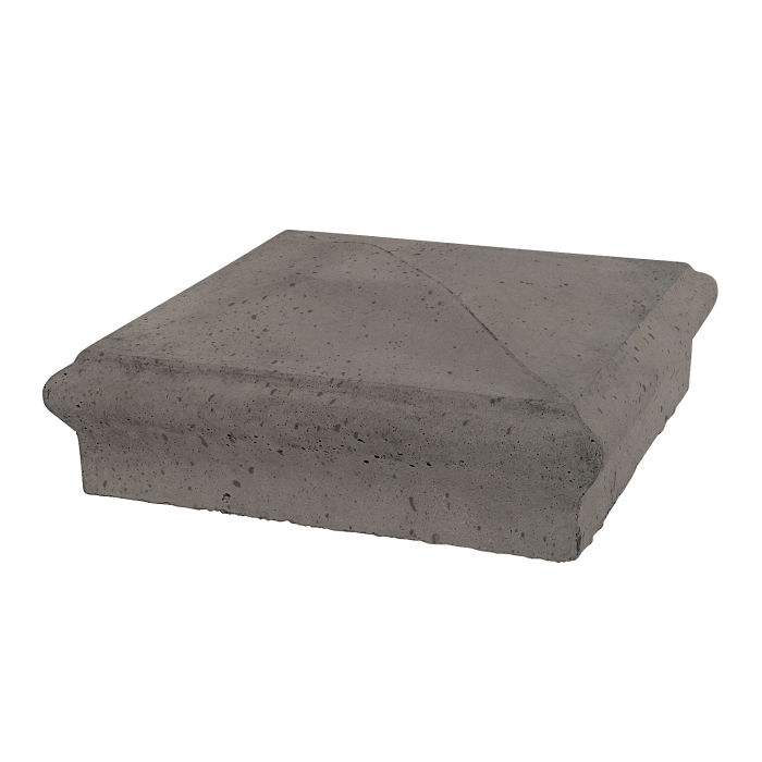 Roman Pier Cap 3 12x12 Smoke Travertine