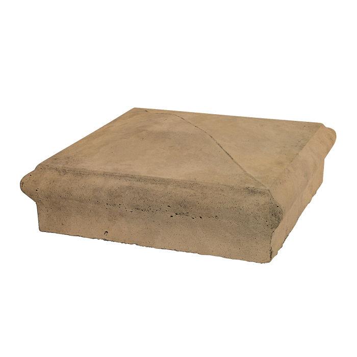 Roman Pier Cap 3 16x16 Caqui Limestone