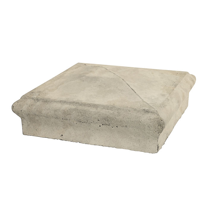 Roman Pier Cap 3 16x16 Early Gray Limestone