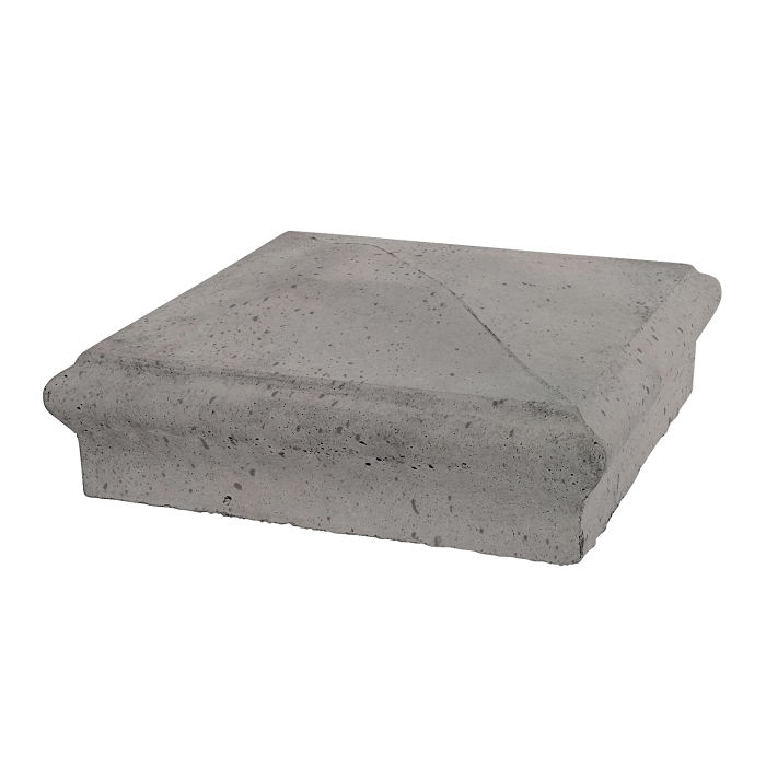 Roman Pier Cap 3 16x16 Sidewalk Gray Travertine
