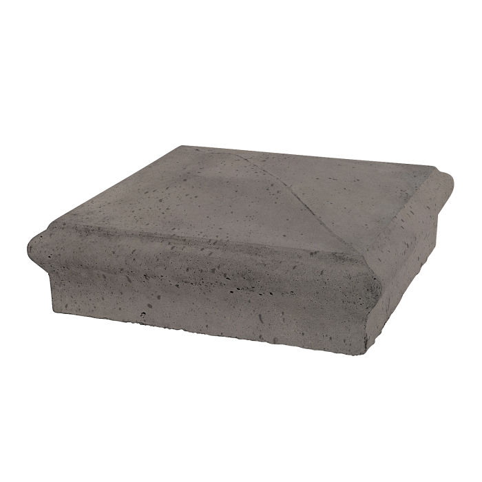 Roman Pier Cap 3 16x16 Smoke Travertine