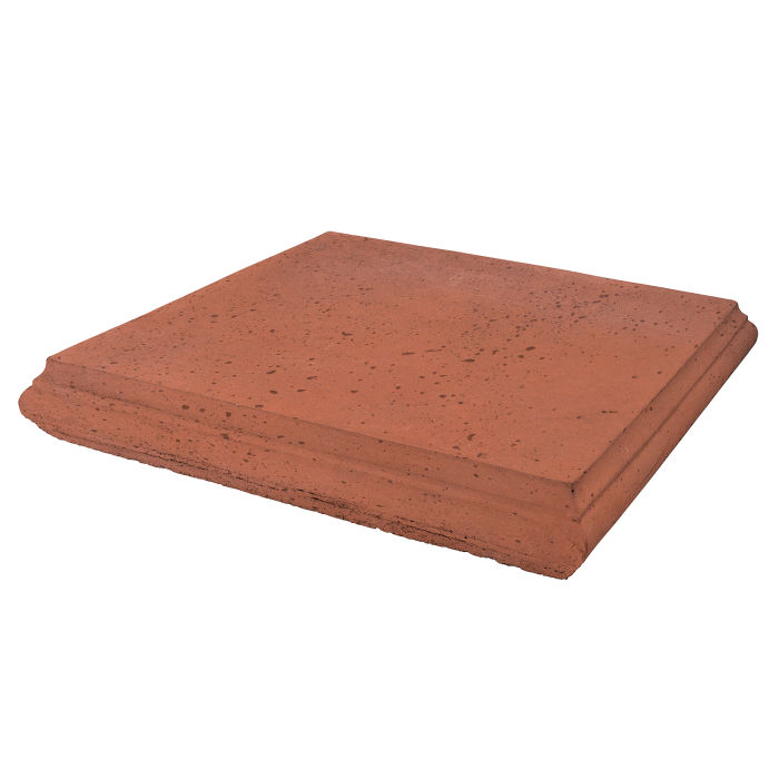 Roman Pier Cap 4 18x18 Mission Red Travertine