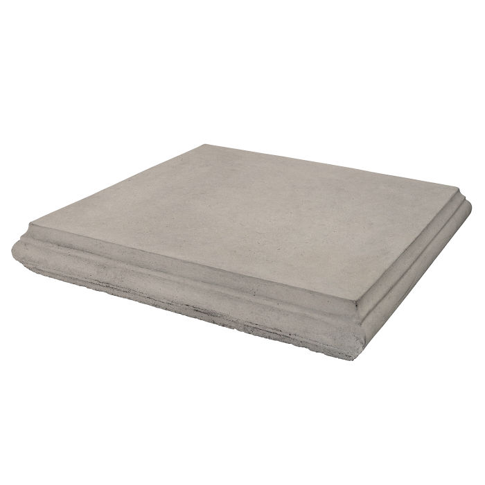 Roman Pier Cap 4 24x24 Natural Gray