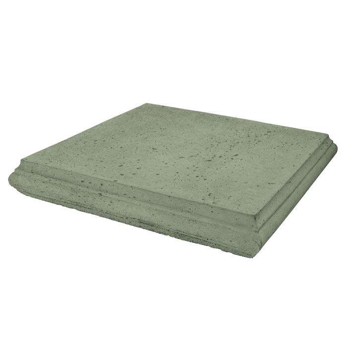 Roman Pier Cap 4 24x24 Ocean Green Light Travertine