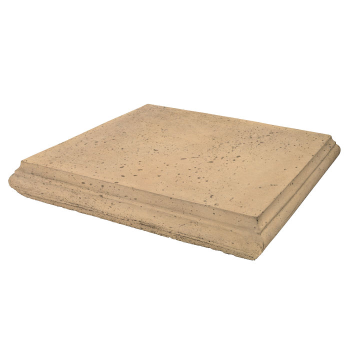 Roman Pier Cap 4 24x24 Old California Travertine