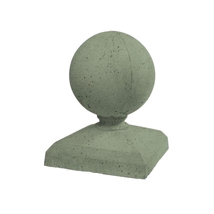 Roman Pier Cap 6 13x13 Ocean Green Light Travertine