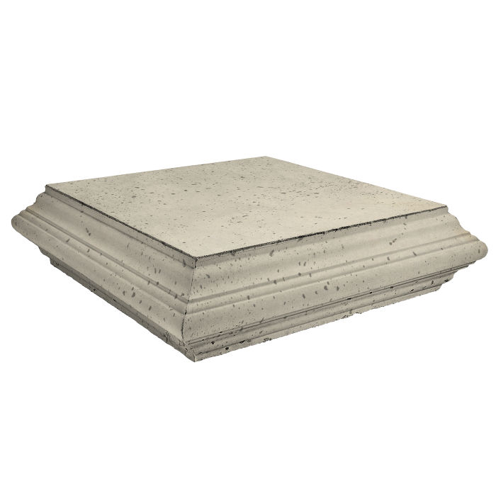 Roman Pier Cap 7 Flat 25x25 Early Gray Travertine