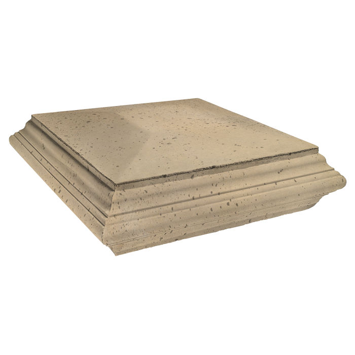 Roman Pier Cap 7 Pedestal 30x30 Hacienda Travertine