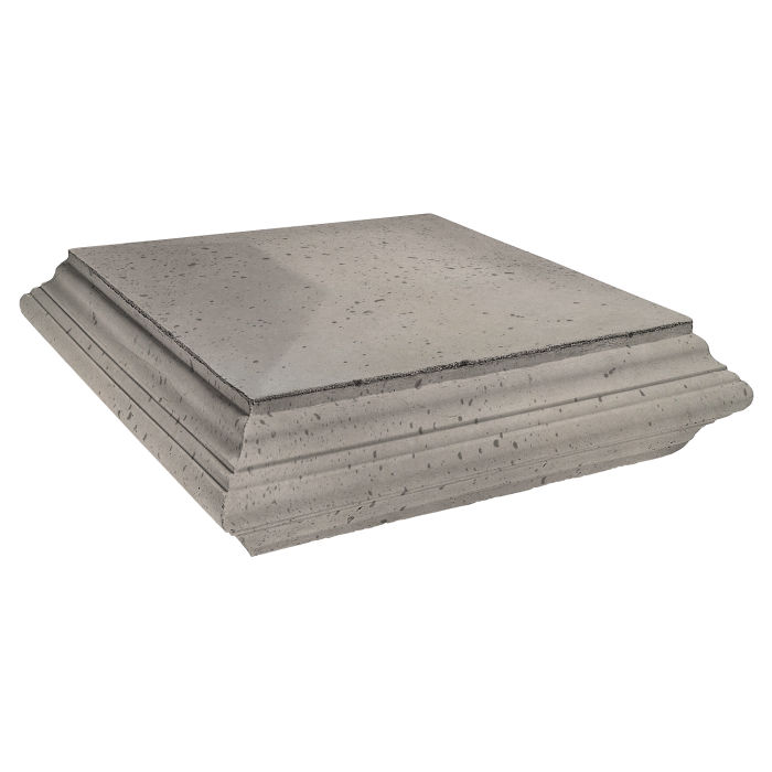Roman Pier Cap 7 Pedestal 30x30 Natural Gray Travertine