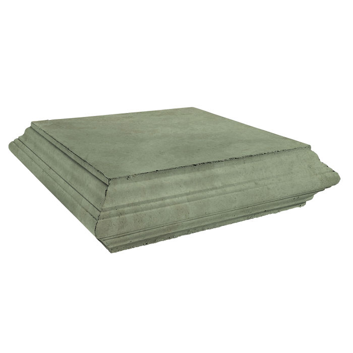 Roman Pier Cap 7 Peak 25x25 Ocean Green Light Limestone