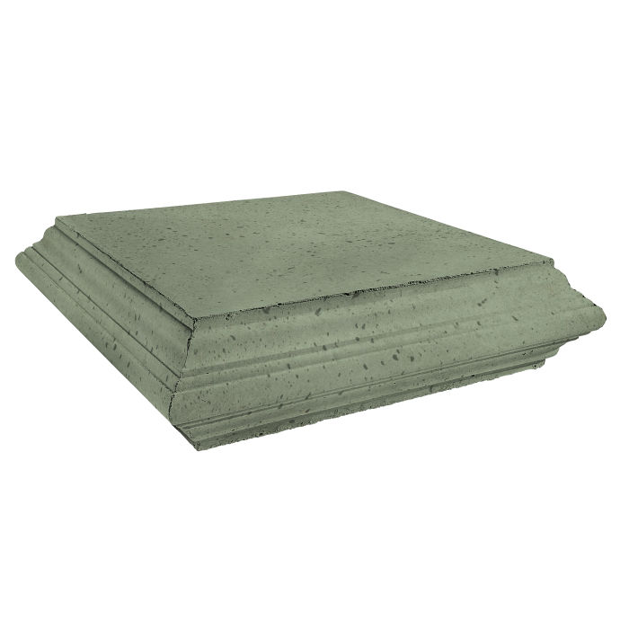 Roman Pier Cap 7 Peak 25x25 Ocean Green Light Travertine