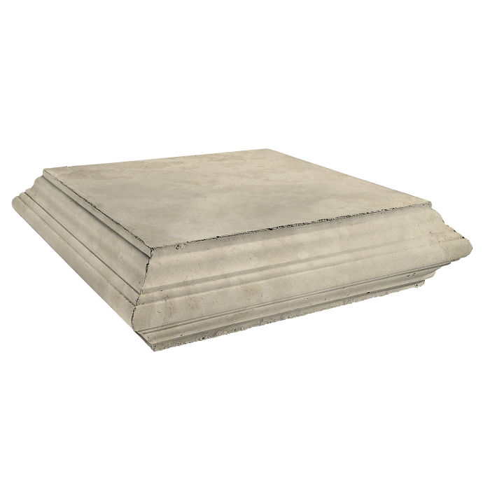 Roman Pier Cap 7 Peak 30x30 Early Gray Limestone