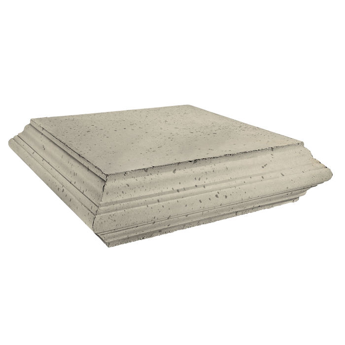 Roman Pier Cap 7 Peak 30x30 Early Gray Travertine