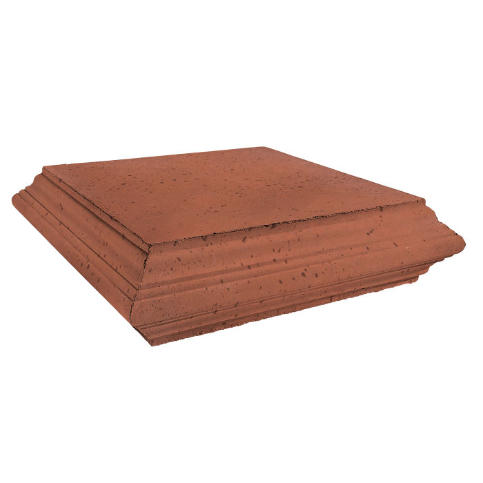 Roman Pier Cap 7 Peak 30x30 Mission Red Travertine