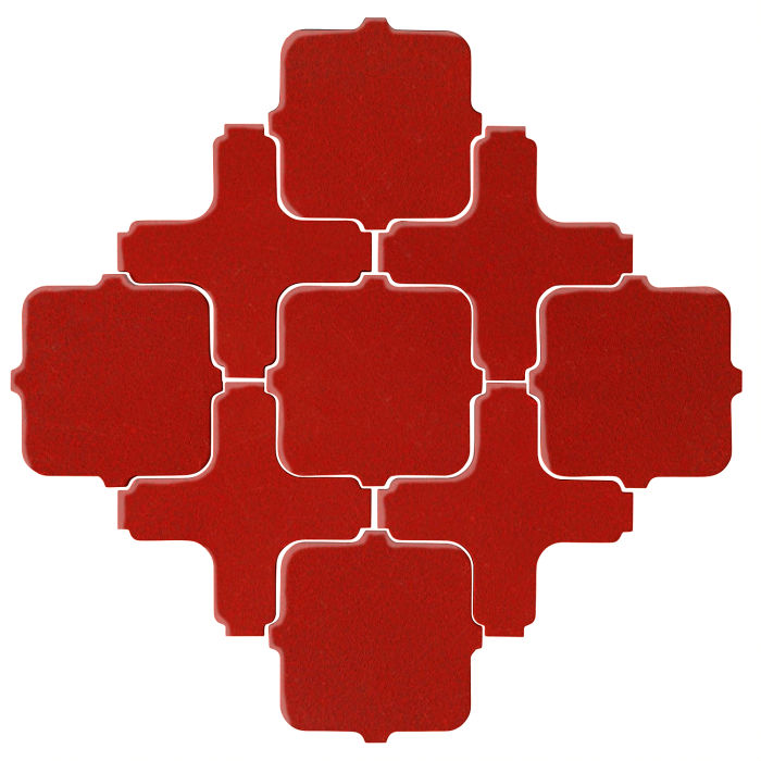 Studio Field Arabesque Pattern 11A Brick Red 7624c