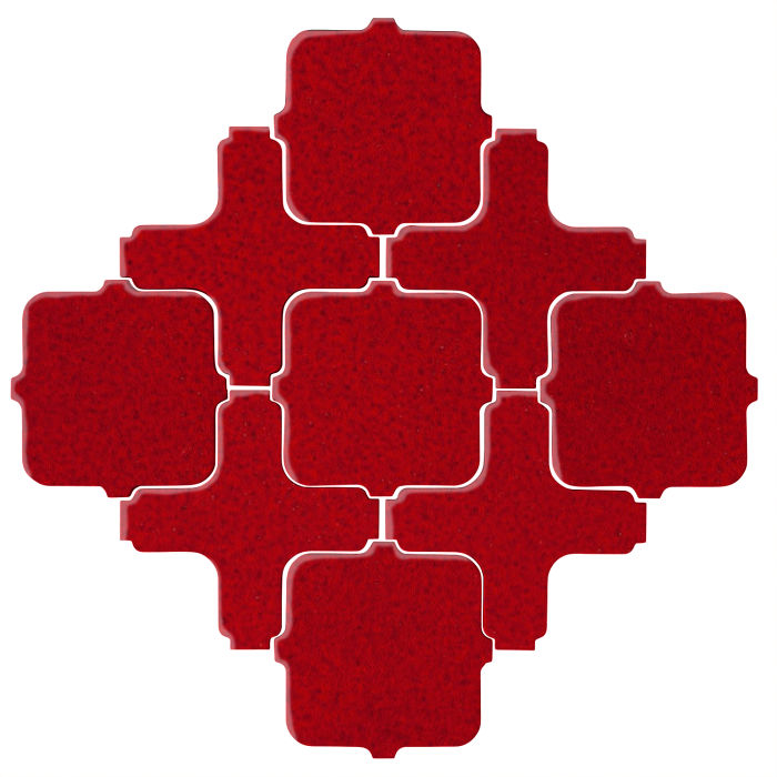 Studio Field Arabesque Pattern 11A Cadmium Red 202c