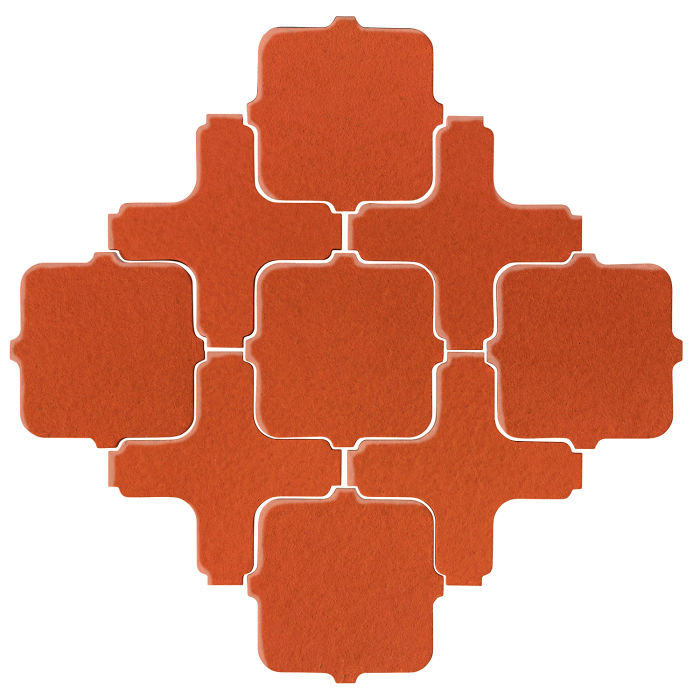 Studio Field Arabesque Pattern 11A Hazard Orange