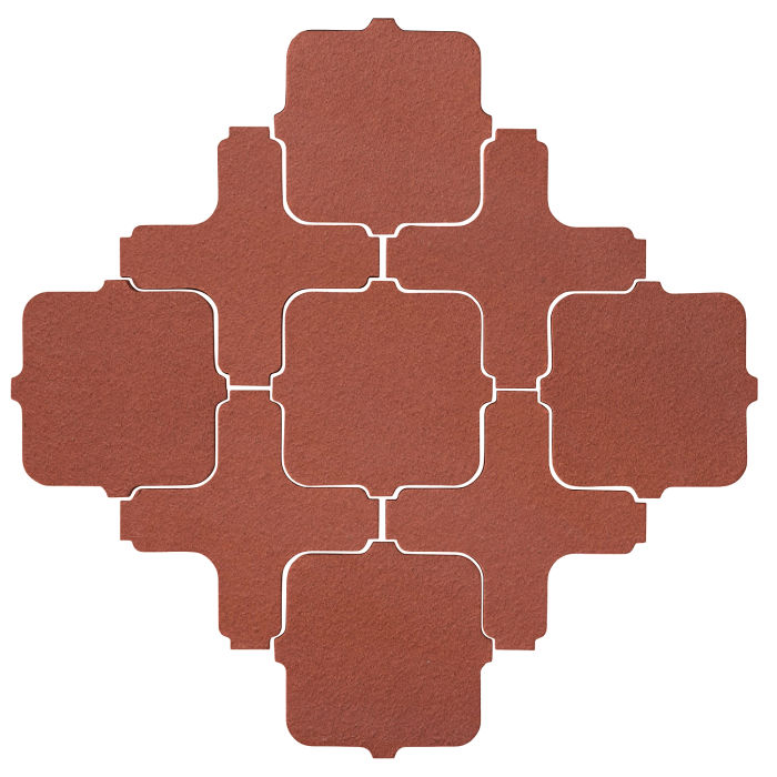 Studio Field Arabesque Pattern 11A Monrovia Red