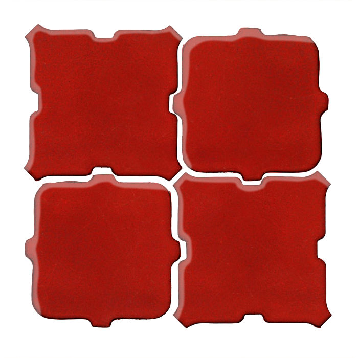 Studio Field Arabesque Pattern 11B Brick Red 7624c