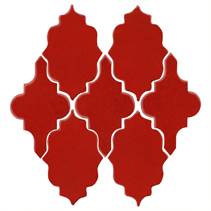 Studio Field Arabesque Pattern 12 Brick Red 7624c